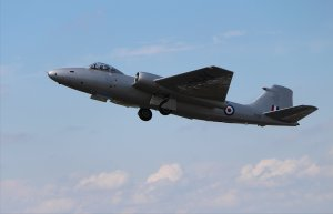Canberra XH134 takes off from Farnborough