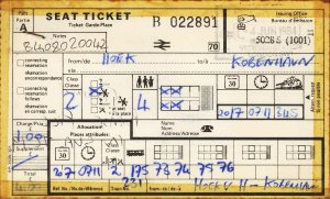 Seat reservation for the Holland-Skandinavien Express