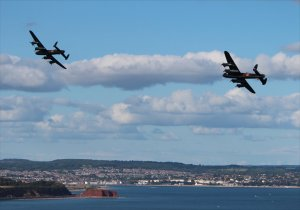 A pair of Lancasters over Dawlish