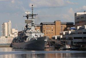 Italian destroyer Luigi Durand de la Penne at West India Docks