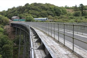 The view across Meldon Viaduct towards Meldon Quarry Station