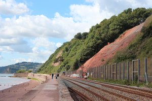The site of the landslip