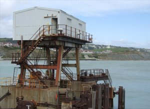 The rusting ferry terminal infrastructure in 2008