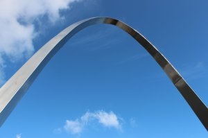 Memorial arch at the top of the Road of Remembrance