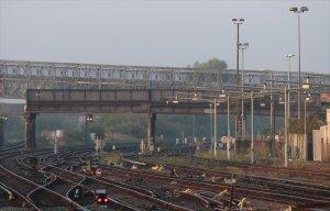 The severed bridge on 8th September 2014