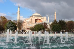 The Hagia Sophia in late afternoon sunlight