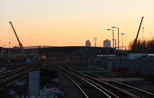 Sunset at the new bridge