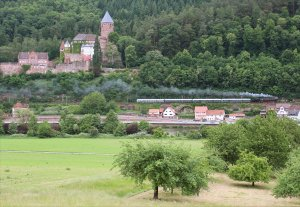 Steaming through Zwingenberg