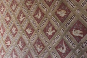 Doves in the chapel