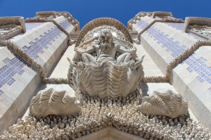 Triton guards a gateway at the Pena Palace