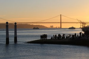 The Cais das Colunas at sunset