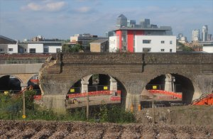 One of the part-demolished viaducts on 19th June 2015