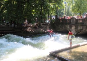 Summer at the Eisbach