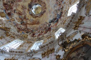 The stunning interior of Kloster Ettal