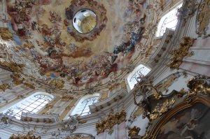 The stunning interior of Kloster Ettal
