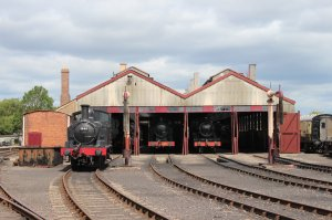 The original GWR engine shed (1932) at the Didcot Railway Centre