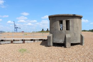 One of many defensive features from the Second World War scattered across the peninsula