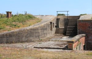 One of the fenced off structures around the fort