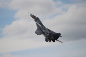 A spectacular take off from the Polish Air Force MiG-29