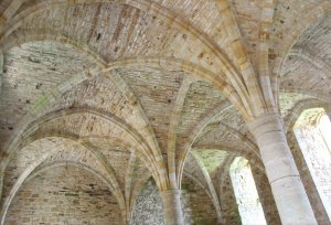 The 13th century vaulted novices' chamber