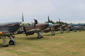 The fighters on the ground at Biggin Hill after the commemorations
