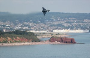 The Typhoon thrills at Dawlish