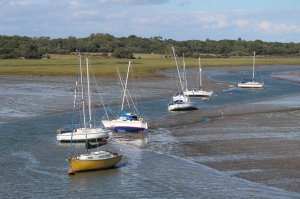 Low tide in Lymington