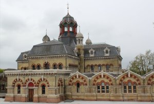 Abbey Mills Pumping Station (as seen from the Greenway in May 2012)