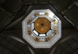 Looking up into the cupola