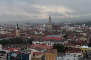 A view of Cluj-Napoca from Cetăţuia Hill