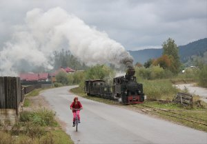 Locomotive racing in Moldoviţa