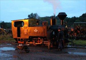 Orenstein & Koppel loco 764-211 at Viseu de Sus