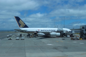 Our Singapore Airlines A380 at Auckland