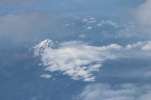 Mount Egmont from the air