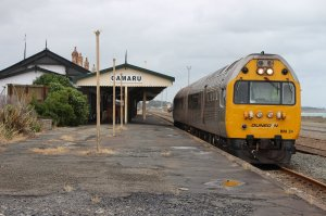 NZR RM class Silver Fern at Oamaru Station