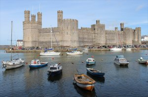 Caernarfon Castle from across the Seiont