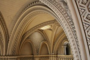 The curves of the jaw-dropping grand hall