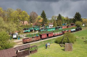 The open air narrow gauge museum in Wenecja