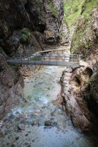 One of the 29 bridges in the Almbach Gorge