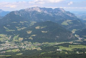 A view of the Untersberg from the Eagle's Nest