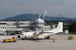 Luftwaffe Transall C160D 50+48 at Salzburg Airport
