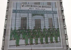 One of the panels on the SIPTU building