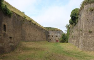 A view of the Drop Redoubt from the moat
