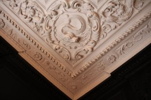 Detail from the ceiling in the Oak Room