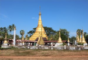 The splendid pagoda in Boyagyi
