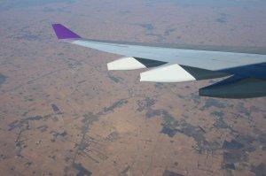 Flying over Myanmar