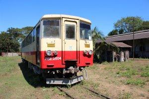 ex-Japanese diesel railcar RBE2504 at Pyuntaza