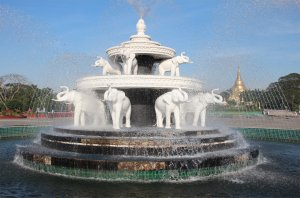 Elephant fountain in the People's Park